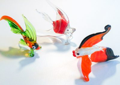 patrick-kimbert-souffleur de verre-poissons en verre