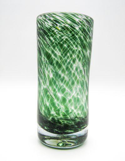 Vase rond en verre soufflé patrick kimbert