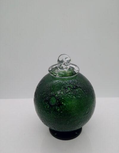 boule de noel cratère soufflé en cristal la petite verrerie